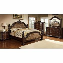Monte Vista I 4 Pc Set-Chest (Queen Bed + Night Stand + Dresser + Mirror)