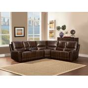 Gerald Sectional Sofa Set - Brown - Bonded Leather Match 9600 Homelegance